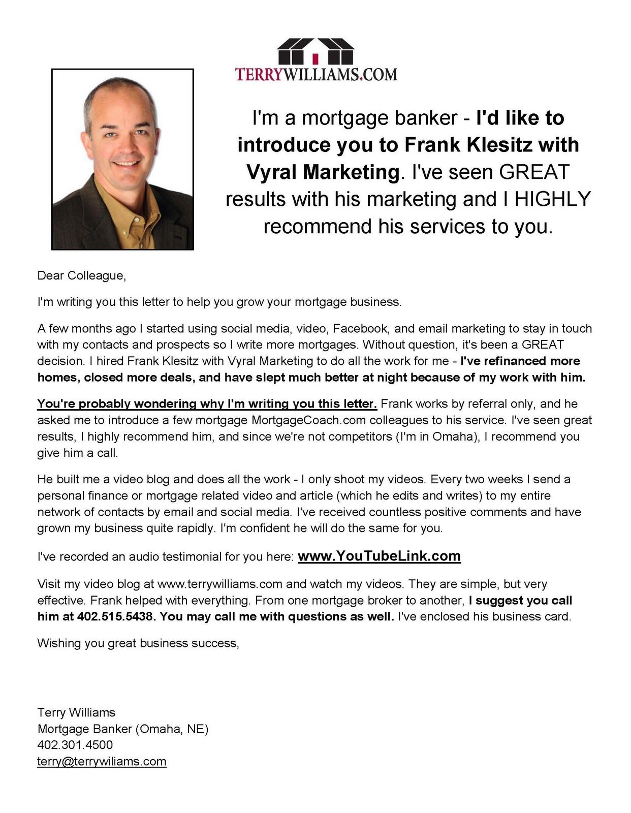 Real Estate Introduction Letter Sample VMore Info About Video Marketing At:  SemanticMastery.com  New Product Introduction Letter Template
