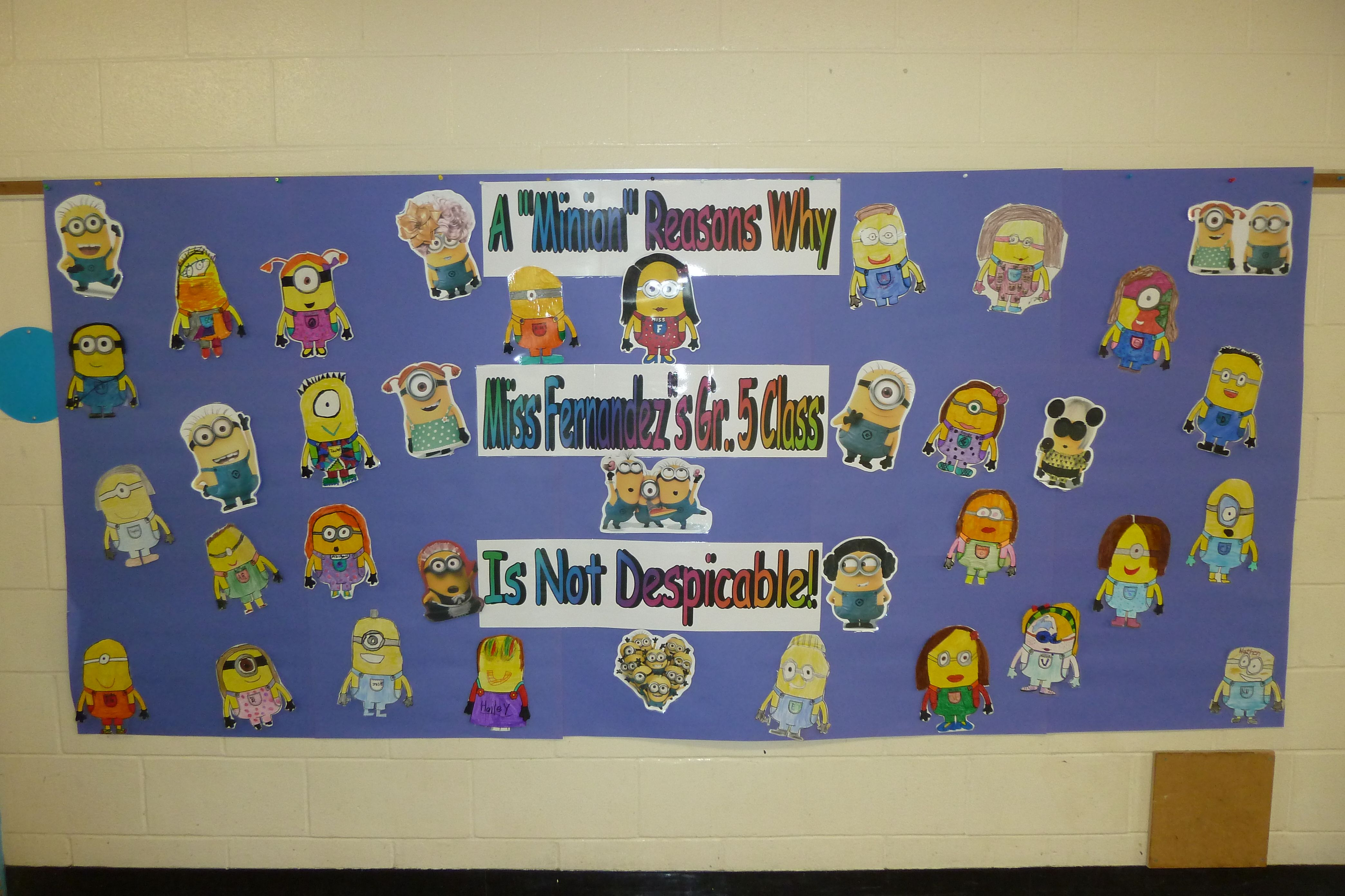 Back To School Bulletin Board Minion Themed I Created A Welcome Back Bulletin Board But