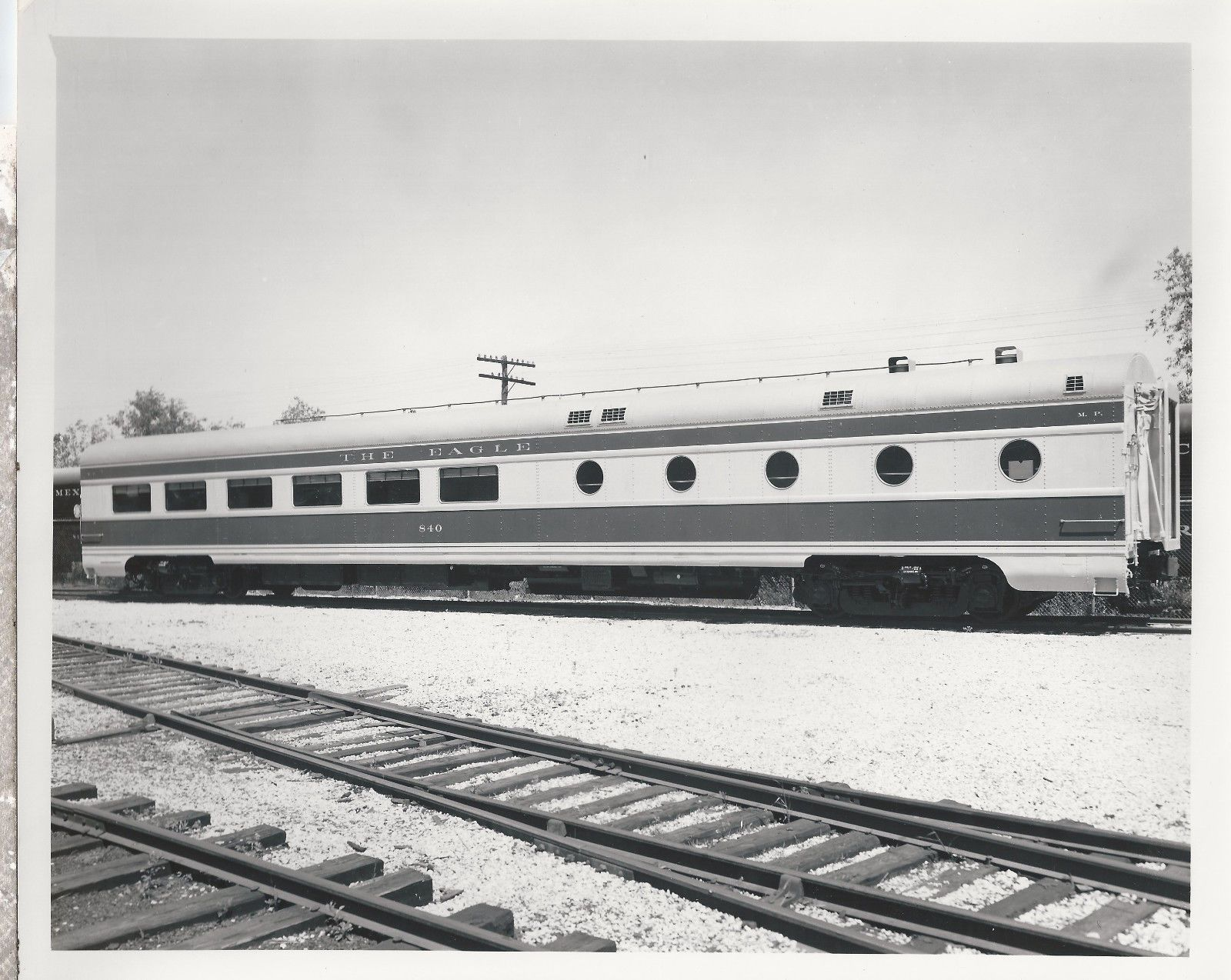 """Details about Missouri Pacific RR Dining Car 840 on """"the"""