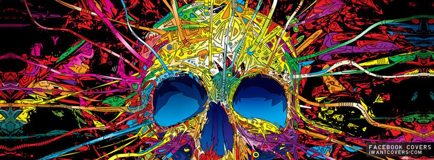 Cat Trippy Psychedelic Art   Skulls Grunge Facebook Covers ...  Cat Trippy Psyc...