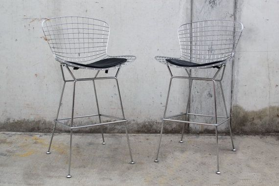 Prime Pair 2 Chrome Wire Bertoia Style Counter Stools Bar Stools Theyellowbook Wood Chair Design Ideas Theyellowbookinfo