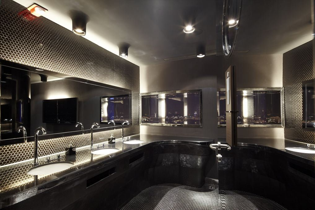 Luxury Bathrooms In Hotels bathroom at the yu bar. the glamorous new rooftop bar of the newly