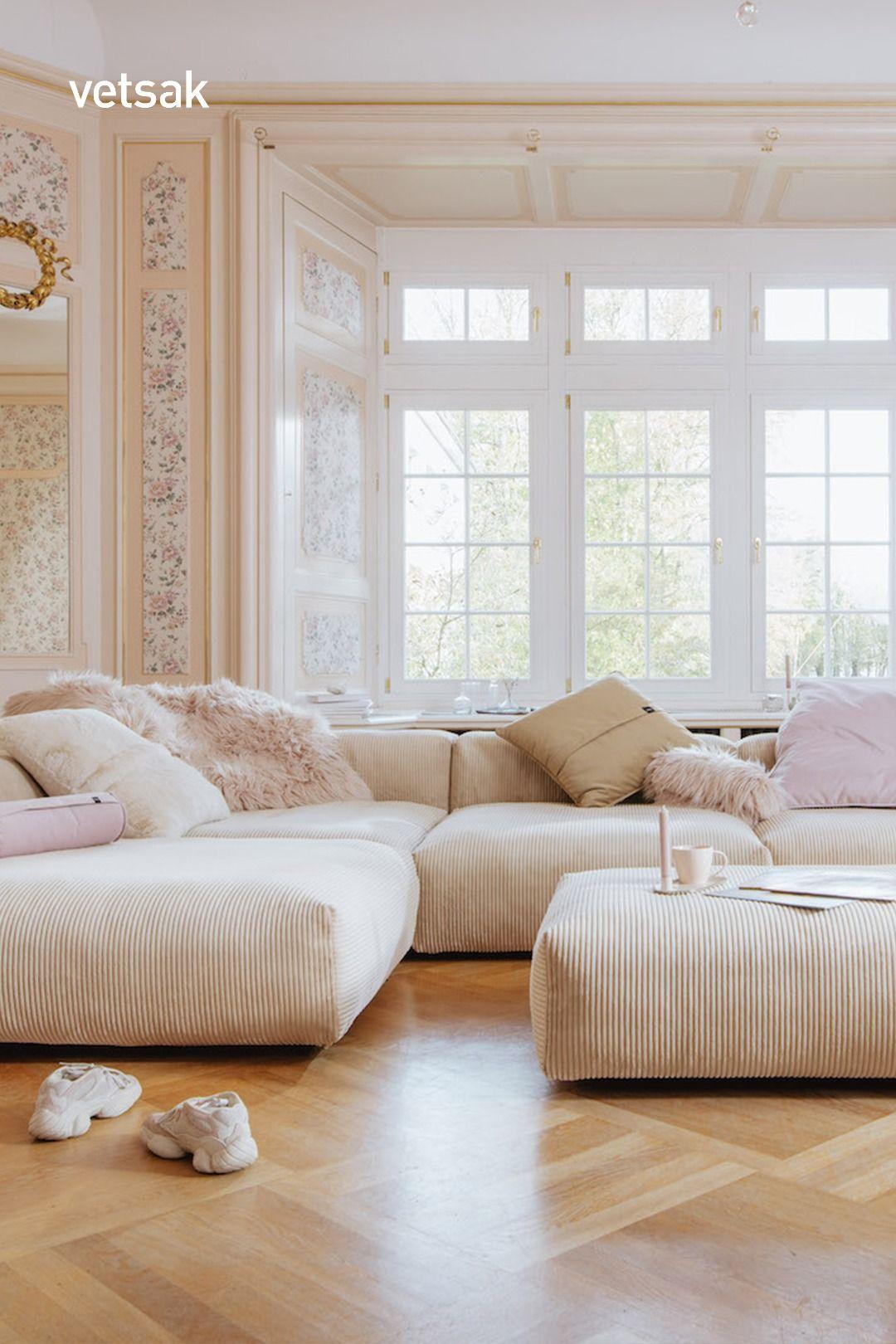 Sofa 2 Large 2 Medium 3 Side Cord Velours Sand Wohnzimmer Einrichten Ideen Wohnzimmer Einrichten Wohnzimmer Ideen Wohnung