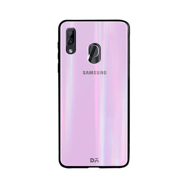 Lavender Holographic Glass Case Cover For Samsung Galaxy A20 in 2020  