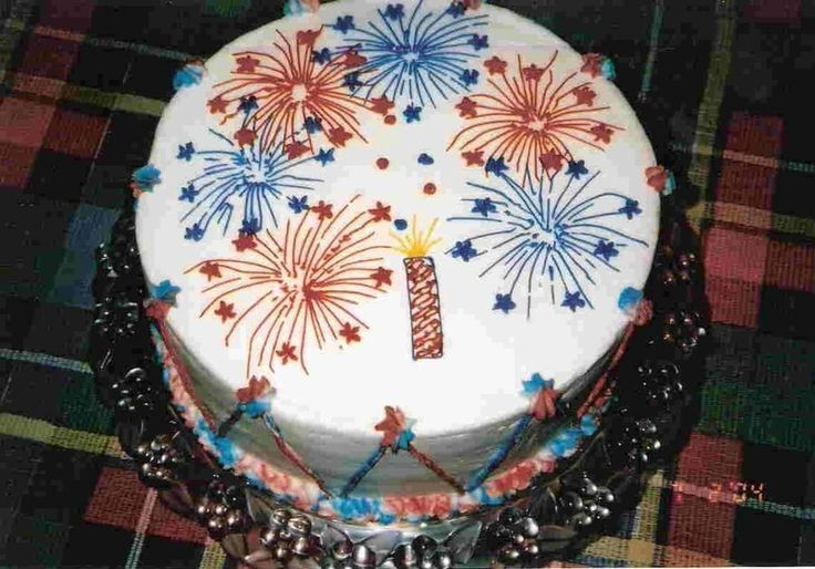 Fireworks Cake New Years