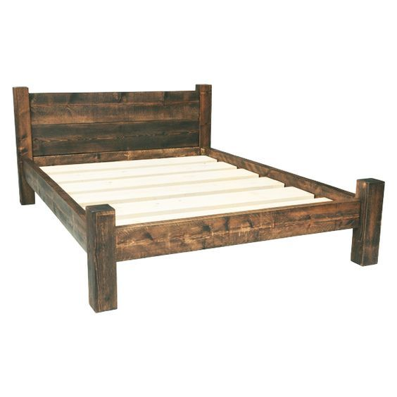 Built From Solid Rustic Timber These Wooden Bed Frames Come In All Sizes Single Double King Size Handmade And Finished A Supreme Wax