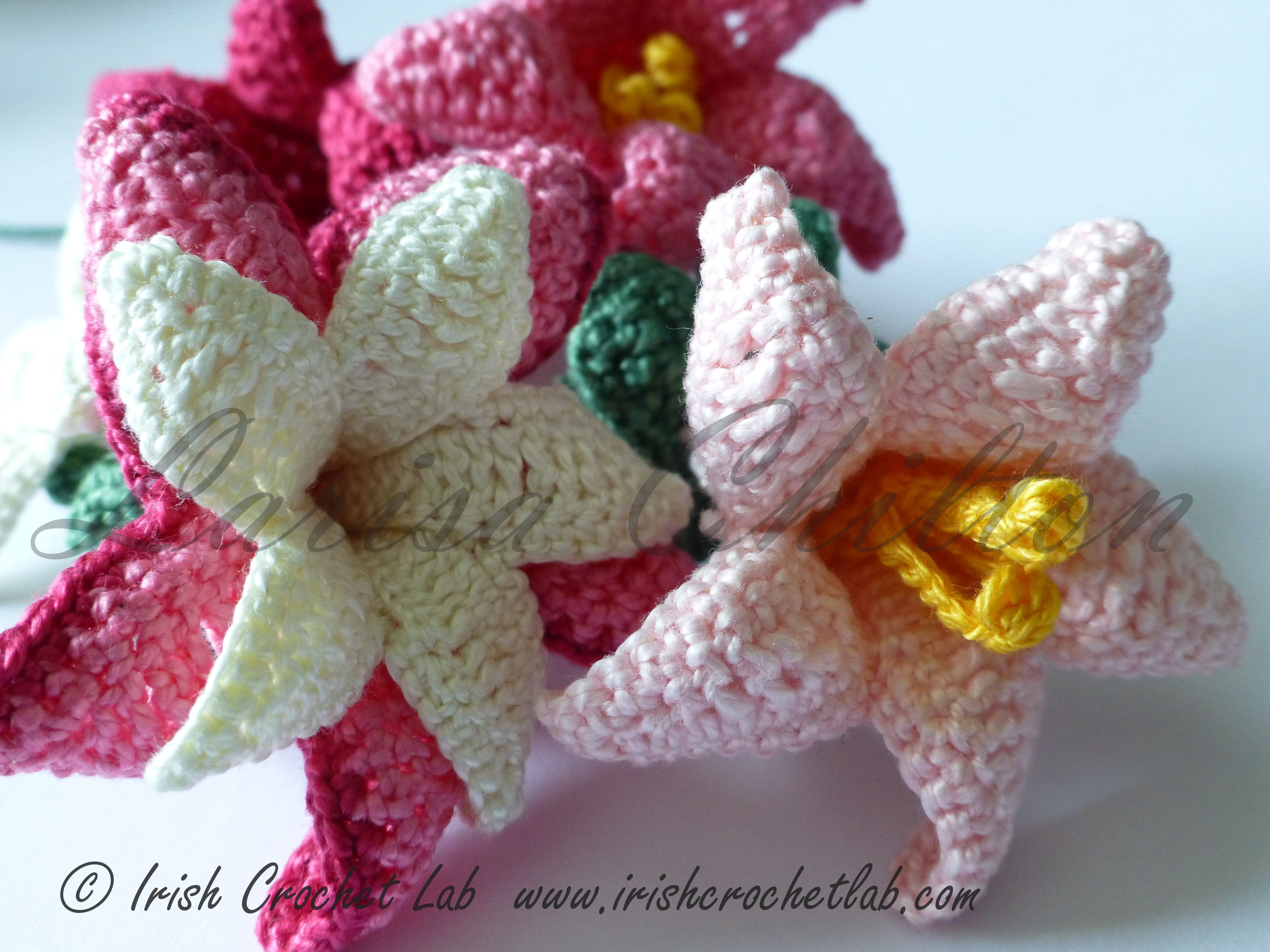 Irish Crochet Pattern. Bell flower - fuchsia. Pattern is available ...