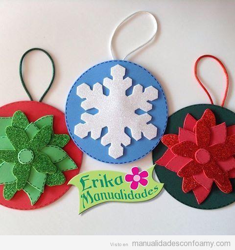 Decoraciones de foamy para navidad navidad pinterest navidad manualidades navidad y - Manualidades decoracion de navidad ...