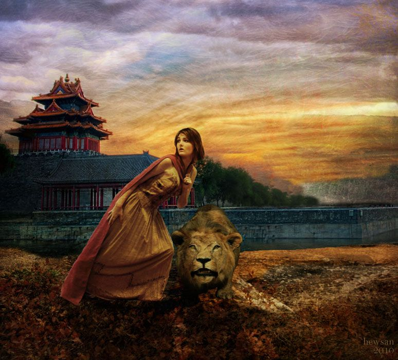 The Lion Woman By Hewsan On Deviantart Women And Animals