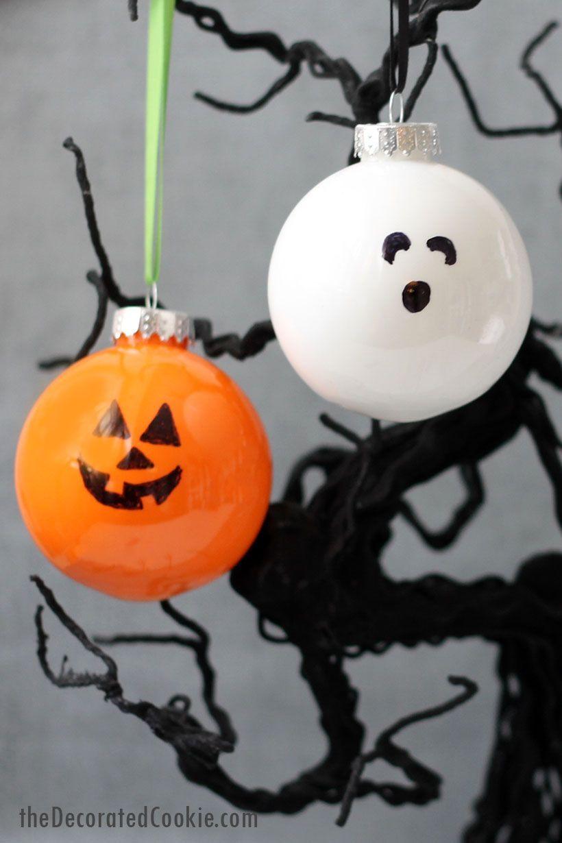 Easy Halloween Ornaments Fun Halloween Decorations And Kids Craft Fun Halloween Decor Halloween Ornaments Diy Halloween Decorations