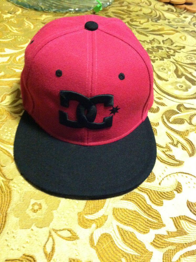 DC Snapback Pink   Black Flat Bill Hat  DC  f06f280db6a