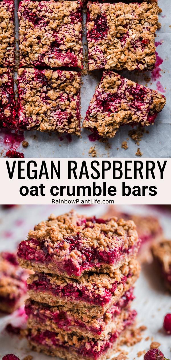 Vegan Raspberry Crumble Bars Rainbow Plant Life Recipe Vegan Raspberry Crumble Bars Sugar Free Vegan Desserts Healthy Vegan Desserts
