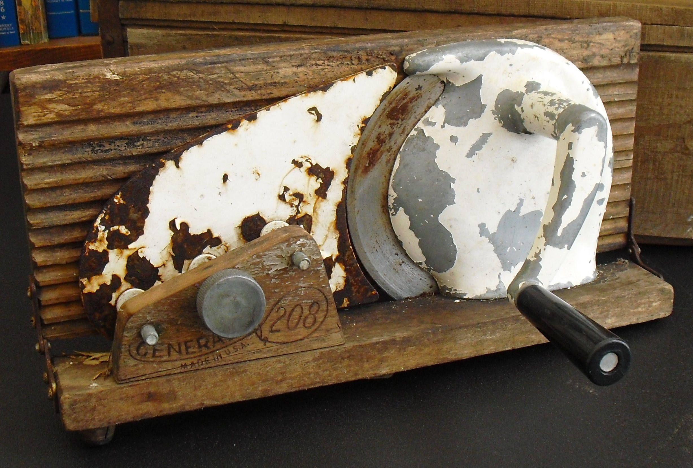 Vintage Hand Cranked Slicer, General No 208, General Store Decor