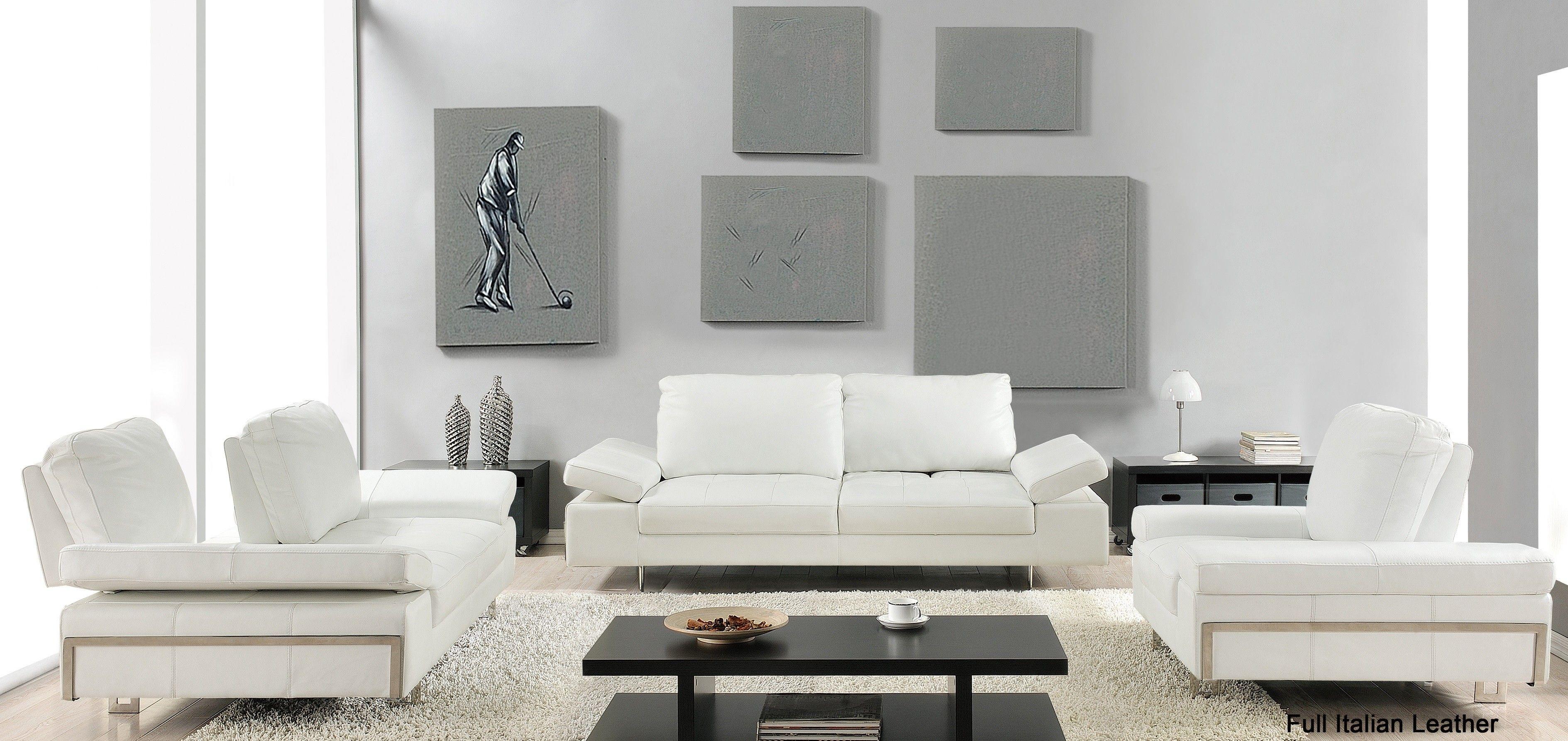 Evolve Contemporary Leather Sofa Set Leather Living Room Set Living Room Leather Contemporary Leather Sofa