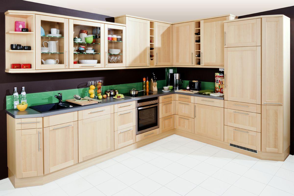 Anspruchsvoll L Küche Ideen Von L-küche Holzoptik