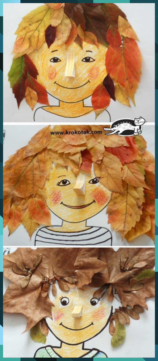 Photo of DIY autumn: make beautiful hairstyles from leaves. Only with the kids … #bla ….