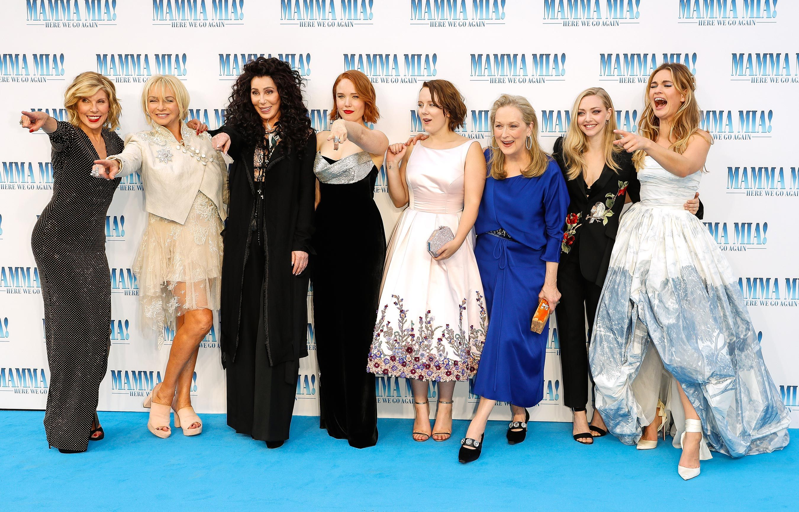 See all the stars at the 'Mamma Mia! Here We Go Again