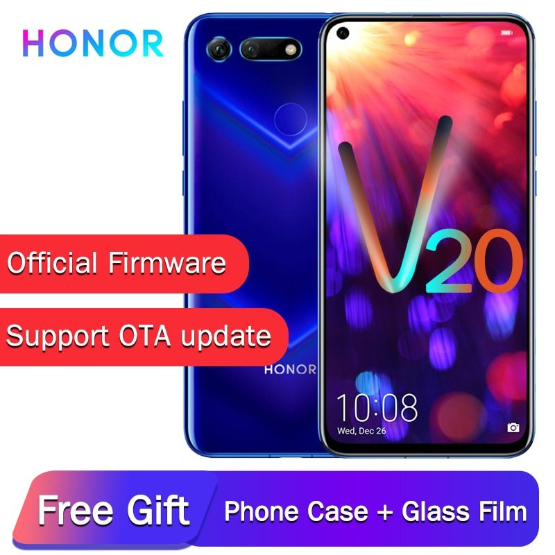 Original Honor View 20 Nfc Mobile Phone Honor V20 Liquid Cooling