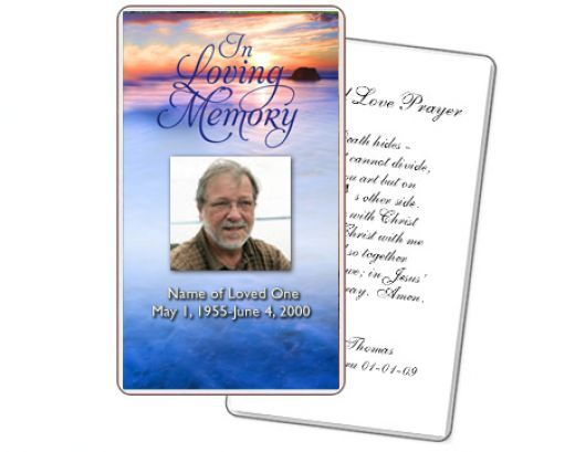 Free Funeral Memorial Cards Template | Funeral Prayer Card ...