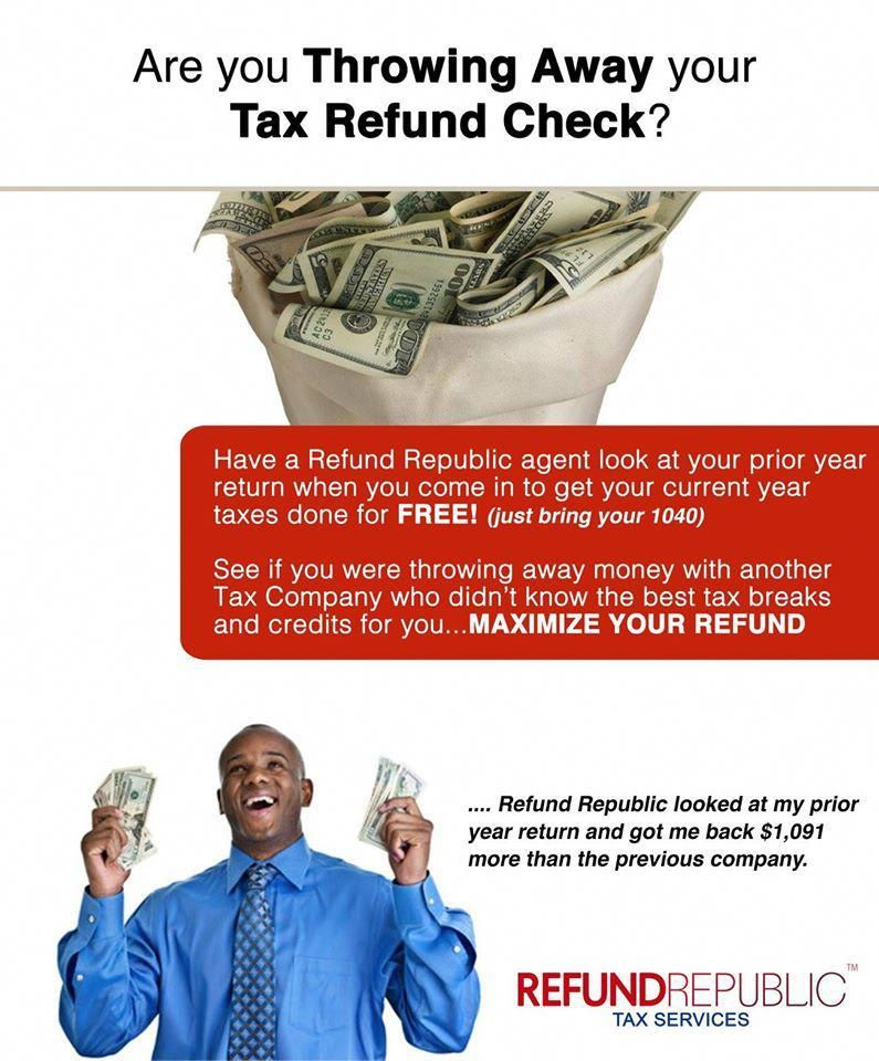 We Offer Services Such As Tax Preparation Credit Repair