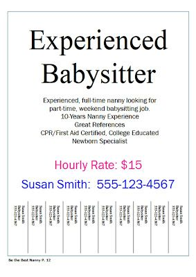 Nanny Job Flyers Have You Ever Hung Up To Find A Need Babysitting