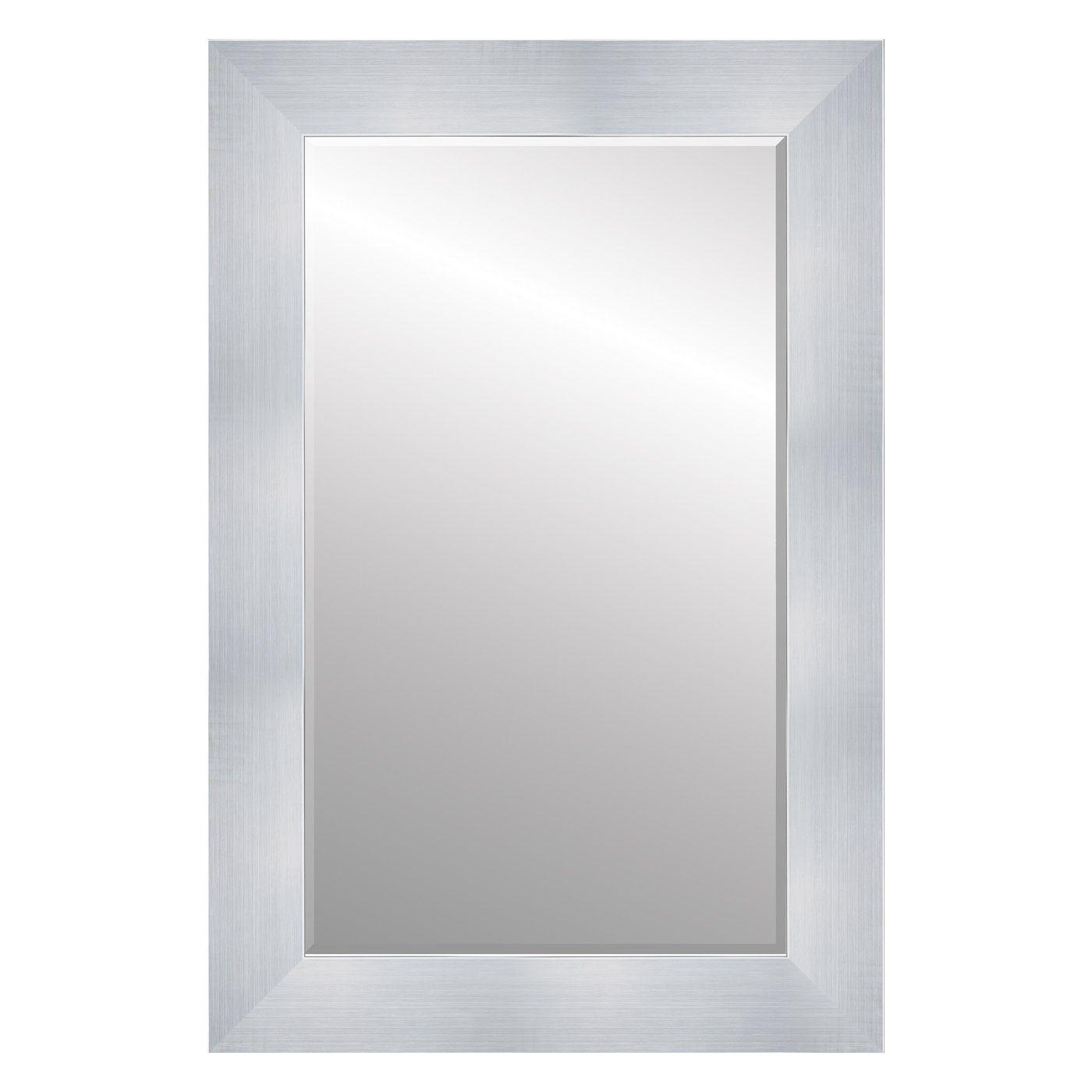 Shop Roma 59154M Ramino 2 3/4-in Titanium Silver Framed Wall Mirror ...