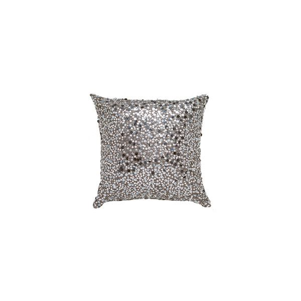Designer Housewares from Nicole Jane Home: Taupe pillow with silver sequins (17x17in) found on Polyvore