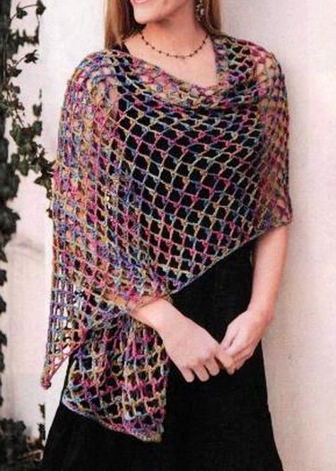 Beautiful Lace Shawl Wrap So Easy For Beginners Yarn used ...