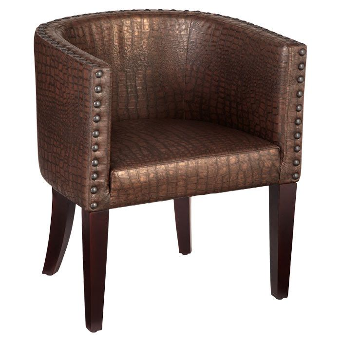Chilton Accent Chair In Copper Brown Bombay Company On