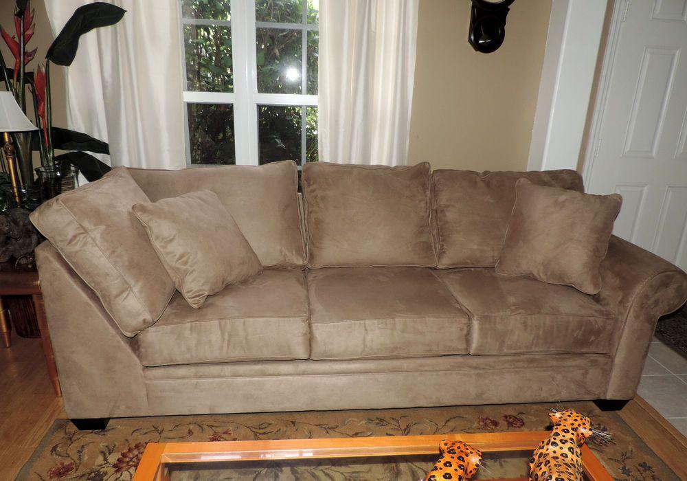 Macy's Raja Peat Microfiber Fabric Sofa*WE SHIP ANYWHERE* #Macys #Traditional