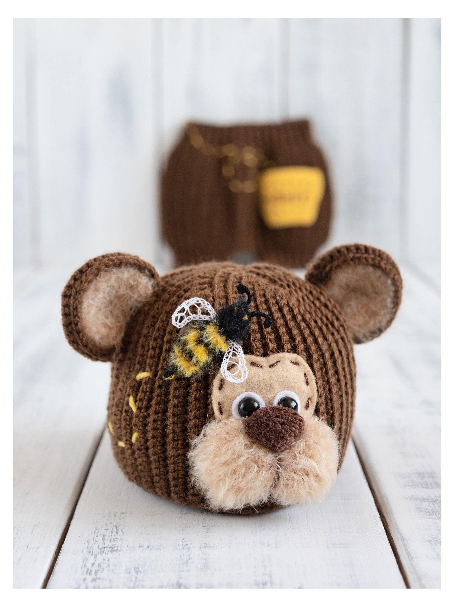 409acf1d9 Newborn bear hat and diaper cover, Bear baby costume, Baby boy bear ...