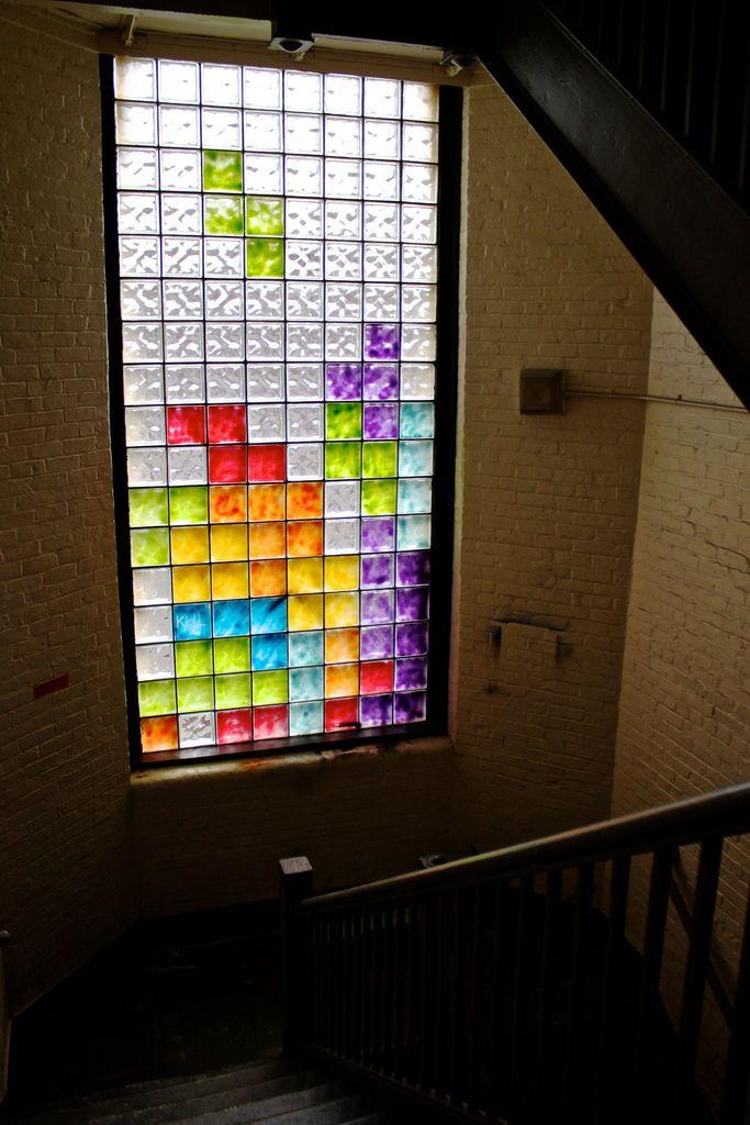 Fenster Aus Glasbausteinen tetris stained glass window glasinlood inspiratie