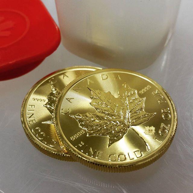 Shiny new maples #gold #bullion #canada | Gold & Silver