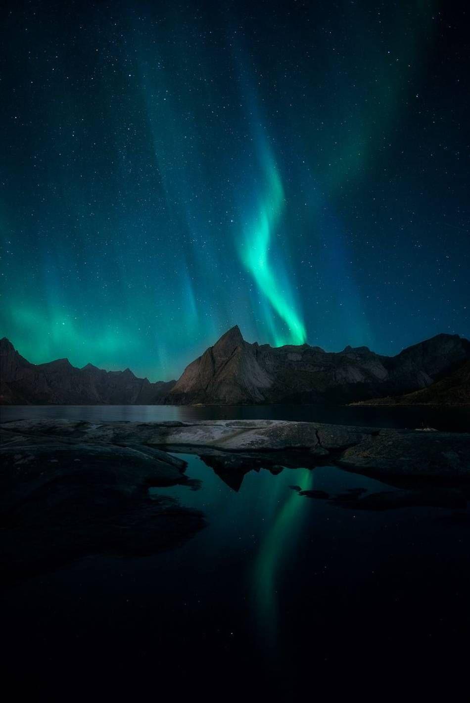 Arctic Night Arctic Landscape Northern Lights Photography Northern Lights