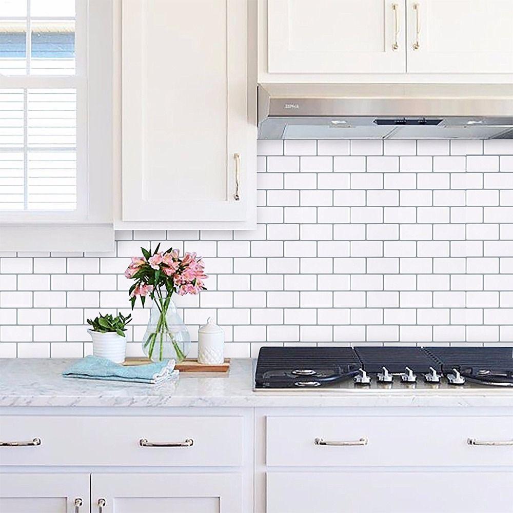 2018 Home Decor Trends Peel And Tile Backsplash Subway Tile Lowes