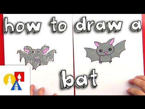 How To Draw A Cartoon Bat - Art for Kids Hub | Halloween HighJinks ...