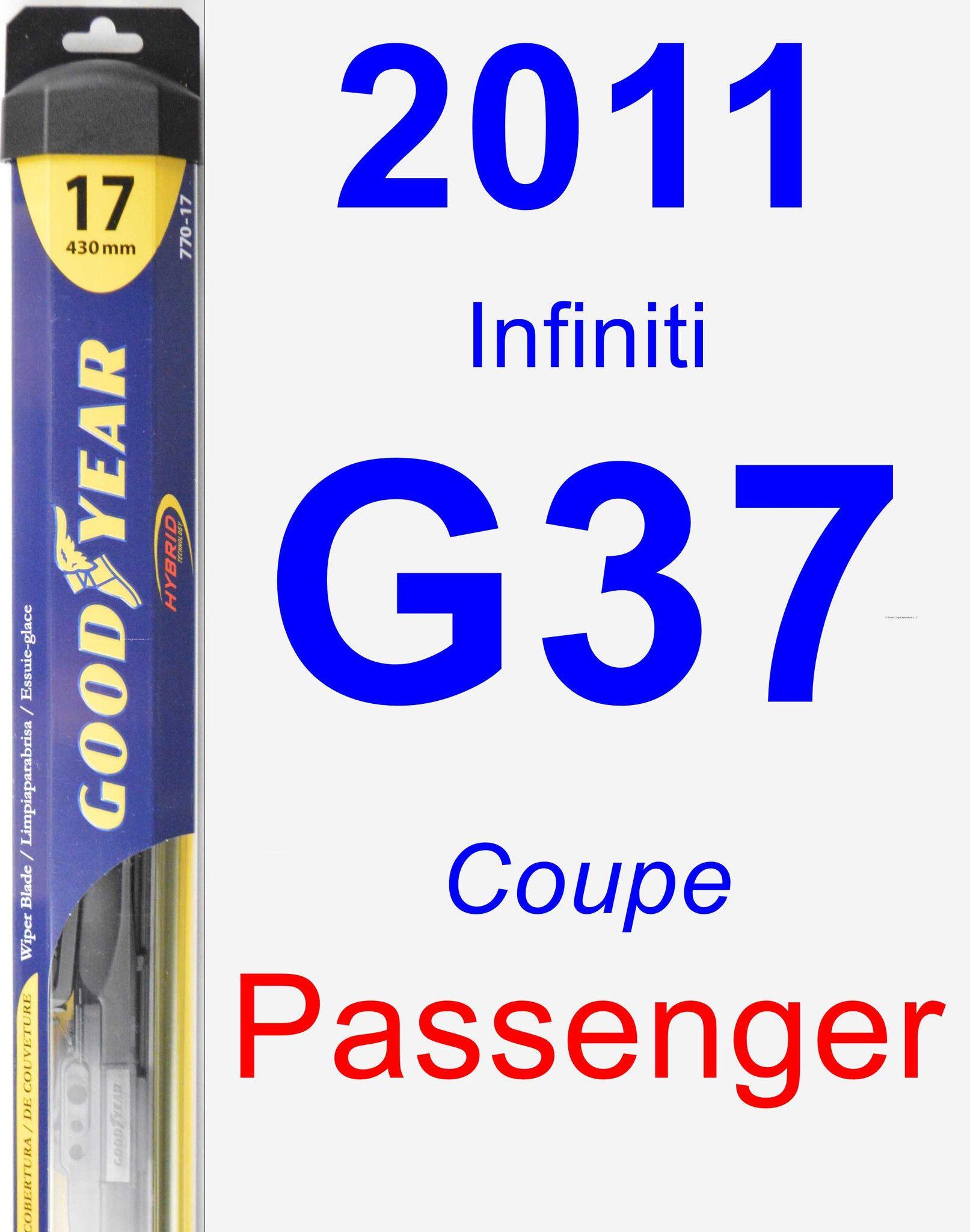 Passenger Wiper Blade for 2011 Infiniti G37 Hybrid