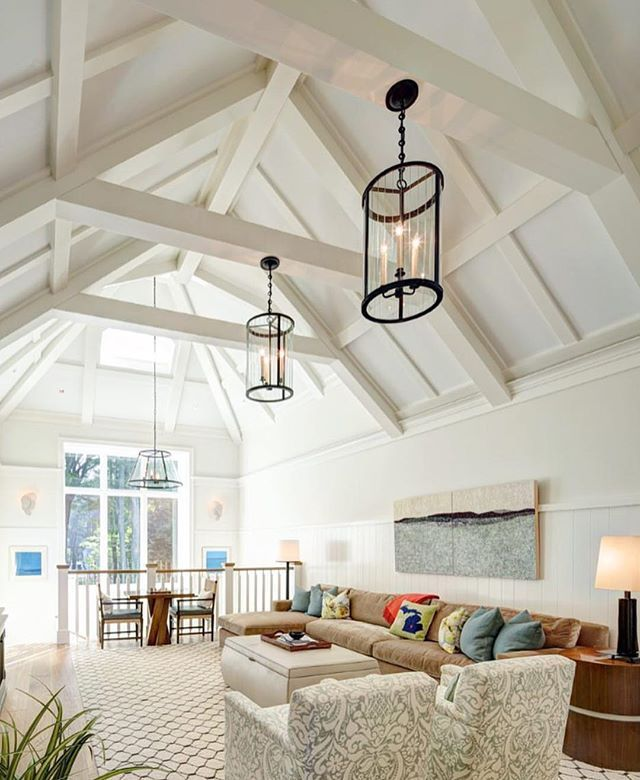 Between Those Beams And Lighting I M Loving This Cozy E
