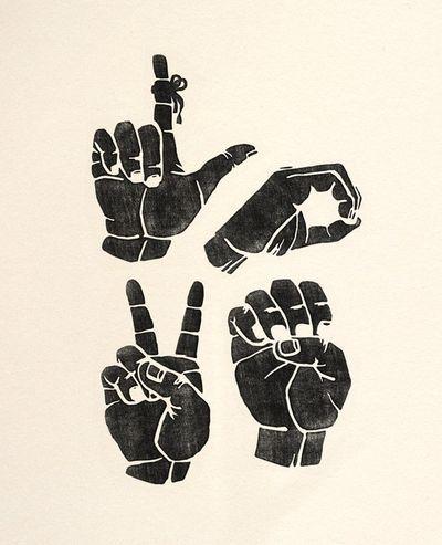 Download Sign Language Love Print by Beauchamping   Lingua de ...