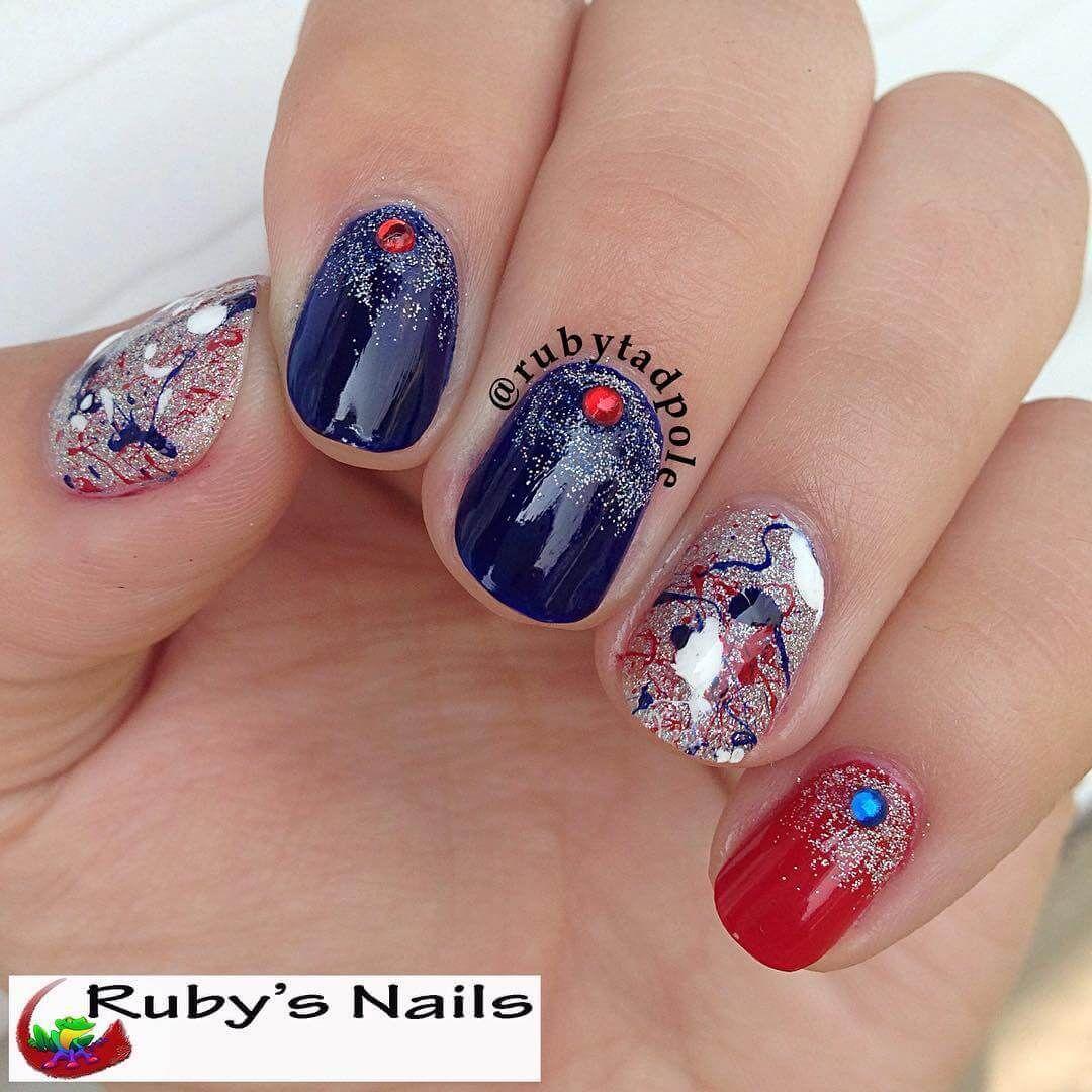 60 Best Ideas About 4th Of July Nail Art Nail Art Nails Diy
