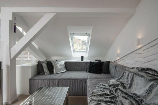 Wohnung einrichten u2013 Wohnideen für Zimmer mit Dachschräge - küchenideen kleine küche