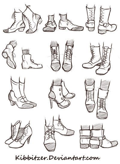 Shoes Reference Sheet Drawing References And Resources Scoop