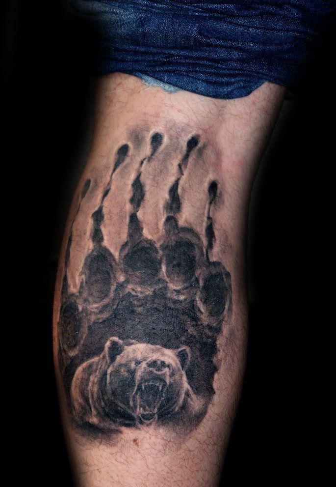 100 Bear Claw Tattoo Designs For Men - Sharp Ink Ideas | tatoo ...