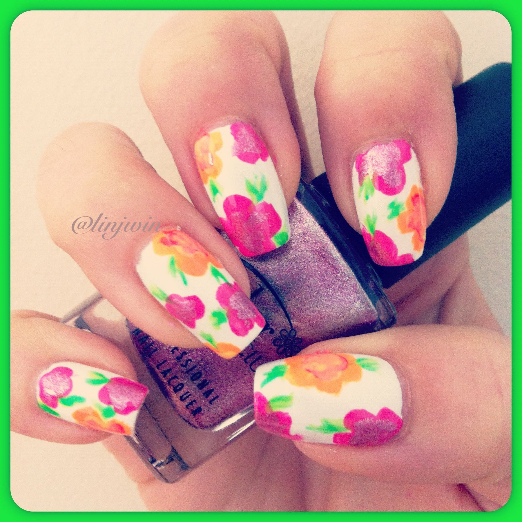 Summer Flower Nail Art Nails 1 Pinterest Flower Nail Art