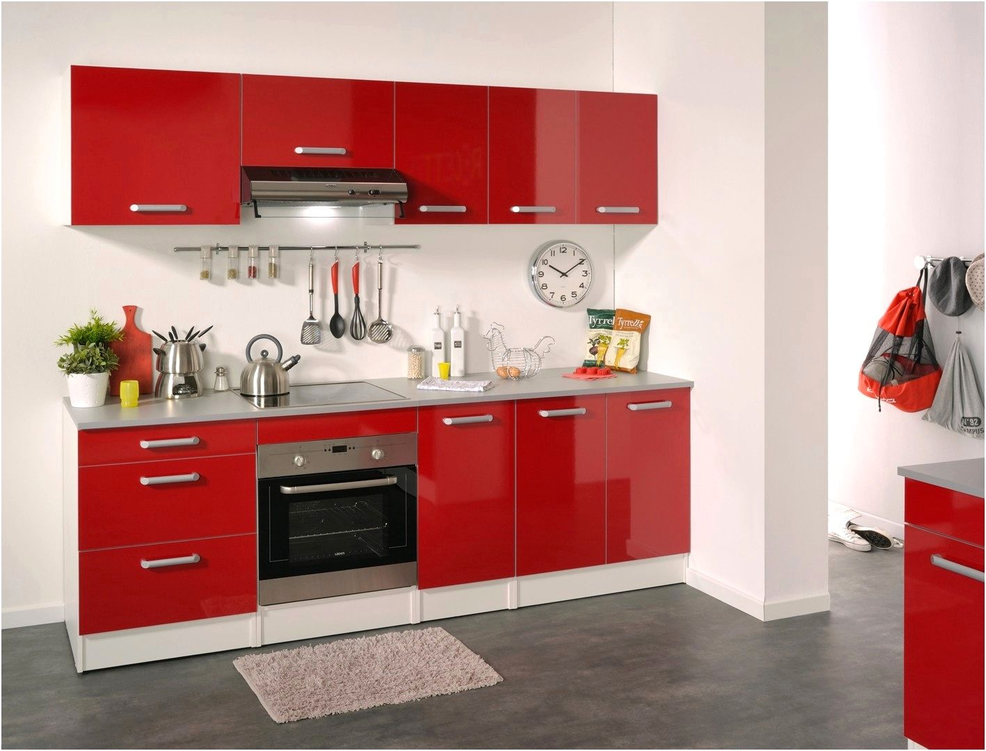 Meuble De Cuisine Conforama Trick  Cuisine rouge, Cuisine rouge