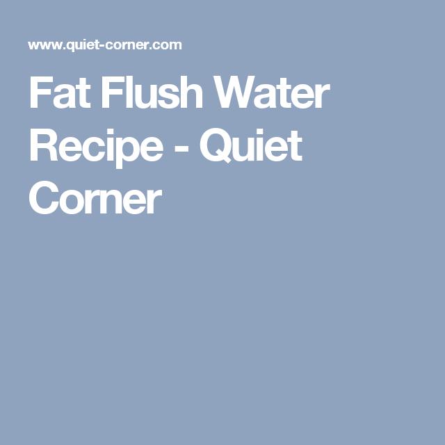 Fat Flush Water Recipe - Quiet Corner