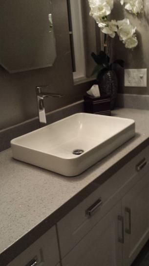 Discount Cabinets Kohler Vox Rectangle Vitreous China Vessel Sink In White