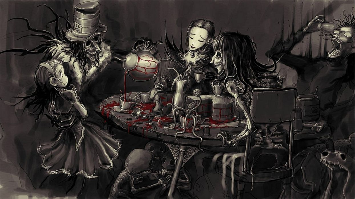 Dark Alice And Wonderland Aesthetic Art Dark Alice In Wonderland
