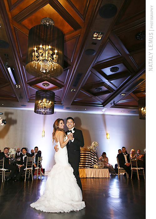 Beautiful Bride Outside Noor S Ella Ballroom Pasadena Weddings At Pinterest Ballrooms Wedding And