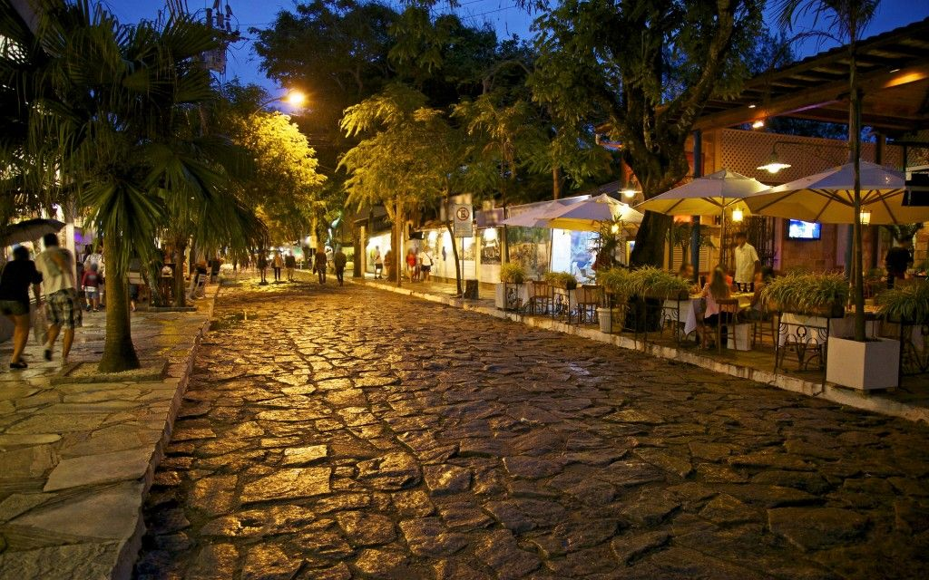 Shopping in Buzios Brazil. The streets of Buzios are gorgeous and the night life is amazing. Eat a crepe and go shopping in this wonderful vacation destination town